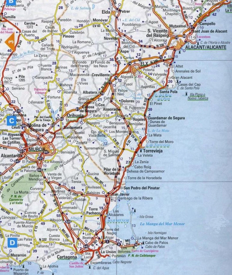 Maps for Torrevieja and the Costa Blanca